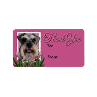 Thank You - Pink Tulips - Schnauzer Label
