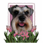 Thank You - Pink Tulips - Schnauzer Photo Cut Out