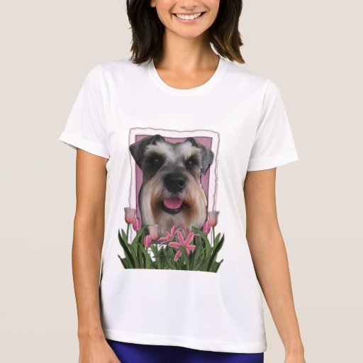 Thank You - Pink Tulips - Schnauzer Tshirts
