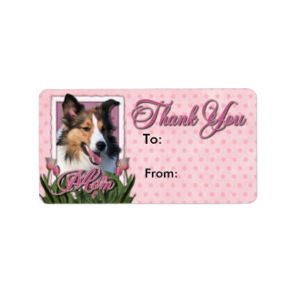 Thank You - Pink Tulips - Sheltie Label