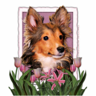 Thank You - Pink Tulips - Sheltie Puppy - Cooper Statuette