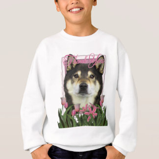 Thank You - Pink Tulips - Shiba Inus - Yasha Sweatshirt