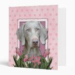 Thank You - Pink Tulips - Weimeraner - Blue Eyes Binders