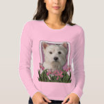Thank You - Pink Tulips - West Highland Terrier Shirts
