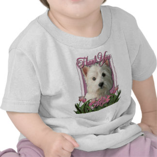 Thank You - Pink Tulips - West Highland Terrier Tshirt