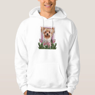 Thank You - Pink Tulips - Yorkshire Terrier Hoodie