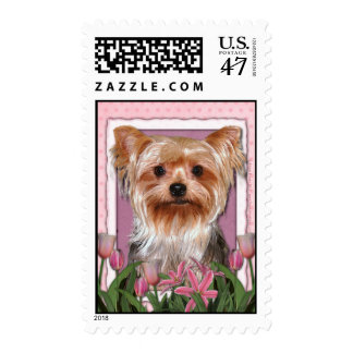 Thank You - Pink Tulips - Yorkshire Terrier Postage