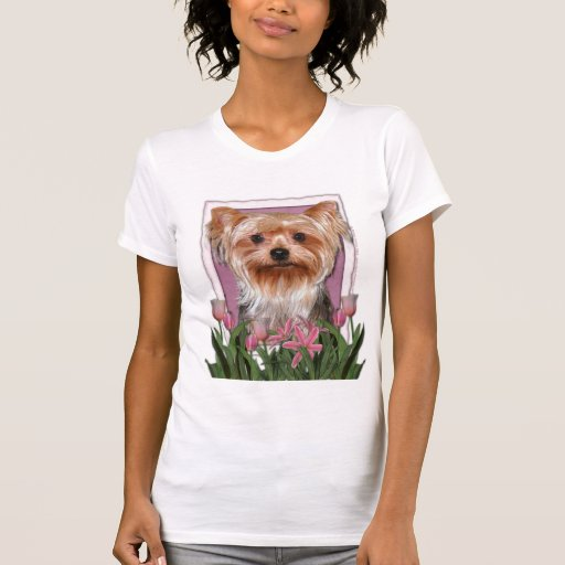 Thank You - Pink Tulips - Yorkshire Terrier T-shirt
