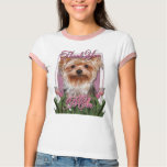 Thank You - Pink Tulips - Yorkshire Terrier Tshirt