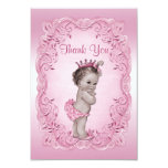 Thank You Pink Vintage Princess Baby Shower 3.5x5 Paper Invitation Card