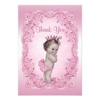 Thank You Pink Vintage Princess Baby Shower Invitation