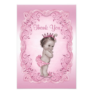 Thank You Pink Vintage Princess Baby Shower Invitation