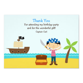 Thank You Pirate Flat Card Personalized Invitation