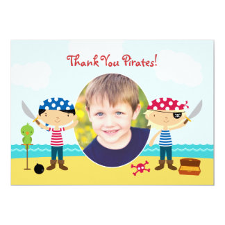 Thank You Pirate Photo Card Personalized Announcement