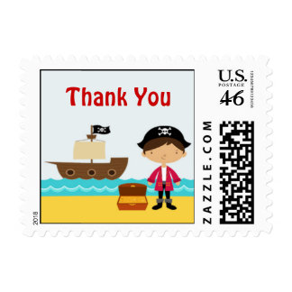 Thank You Pirate Small Postage