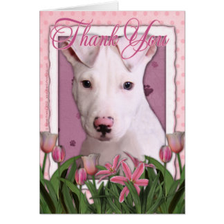 Thank You - Pitbull Puppy - Petey Card