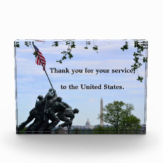 Thank You Plaque from United States (for service)