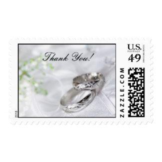 Thank You Platinum Wedding Band Postage