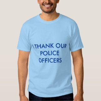 THANK-YOU POLICE OFFICERS BLUE-T SHIRTS