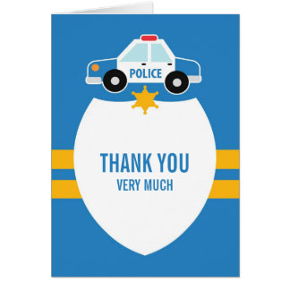 Thank You Police Theme Card
