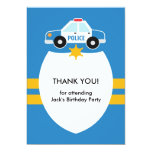 Thank You Police Theme Card Announcements
