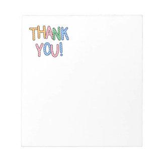Thank You Polka Dot Text Expression Note Pad