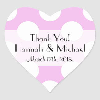Thank You - Polka Dots (Dotted Pattern) - Pink Sticker