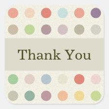 Thank You Polka Dots Sticker