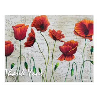 Thank You Poppies Postcard