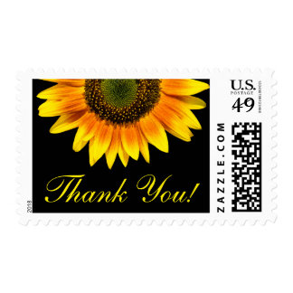Thank you postage - beautiful yellow sunflower