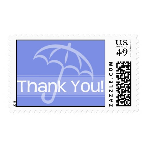 Thank You Postage Blue Umbrella