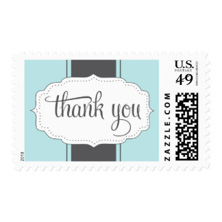 Thank You Postage in Blue and Gray