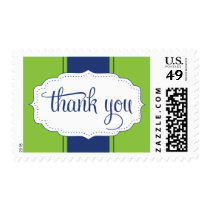 Thank You Postage in Blue and Green