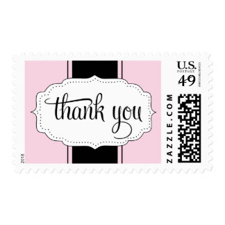 Thank You Postage in Pink and Black