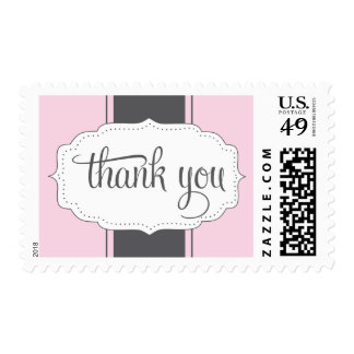 Thank You Postage in Pink and Gray
