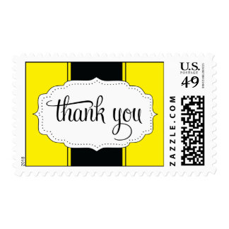 Thank You Postage in Yellow and Black
