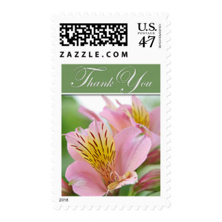Thank You Postage Stamp - Tiger Lily