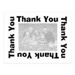 Thank You Postcard - Black