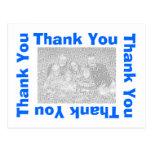 Thank You Postcard - Blue
