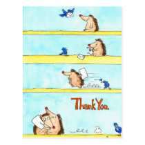 THANK YOU postcard by Nicole Janes