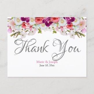 Thank You Postcard - Floral01