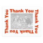 Thank You Postcard - Orange