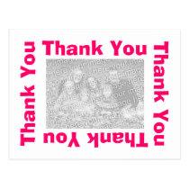 Thank You Postcard - Pink