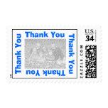 Thank You Postcard Postage - Blue