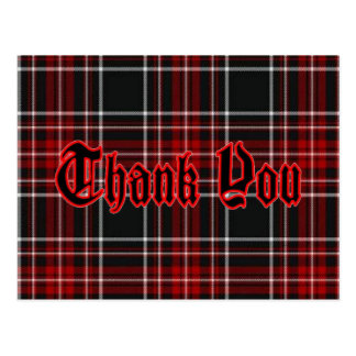Thank You Postcard - Red Plaid*