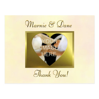 Thank You Postcard  Vintage Yellow Collection