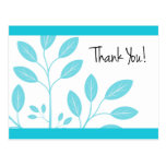 Thank You! Postcard with Aqua Foliage