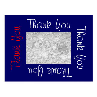 Thank You Postcards Red White and Blue