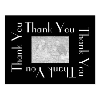 Thank You Postcards with photo - Black and White
