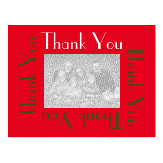 Thank You Postcards with photo - Holiday Colors